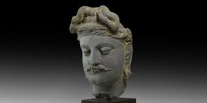 Life-Size Gandharan Buddha Statue Head