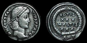 Roman Empire - Constantius II -  AR Siliqua