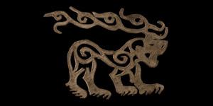 Scythian Leather Animal Ornament
