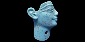 Egyptian Turquoise Glass Face Inlay