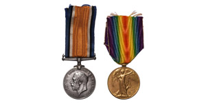 British Military Medals - George V - WWI - Pte F C Ager (Machine Gun Corps) - Medal Group