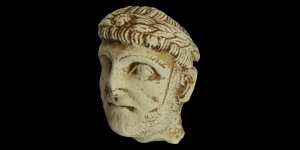 Roman Limestone Head