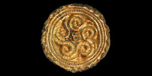 Saxon Gilt Mount with Scrolls