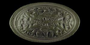 Scandinavian Viking Borre-Style Tortoise Brooch with Beasts