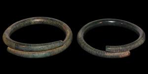 Bronze Age Decorated Bracelet Pair