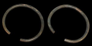 Bronze Age Decorated Arm-Ring Pair