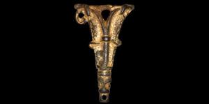 Anglo-Saxon Gilt Wrist Gusset Plate