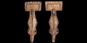 Merovingian Gilt Silver Brooch Pair