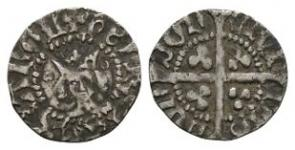 English Medieval Coins - Henry IV - London - Light Coinage Halfpenny