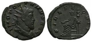 Ancient Roman Imperial Coins - Postumus (under General Aureolus) - Fides Antoninianus