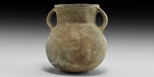 Bronze Age Holy Land Vessel with Handles