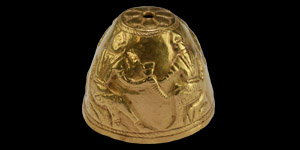 Scythian Gold Ritual Vessel with Drinking Scenes