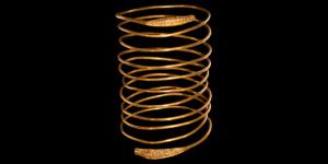 Greek Gold Coiled Snake Bracelet