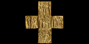 Byzantine Period Gold Coptic Cross with Miracles