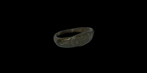 Roman Ring with Serpents and Lion