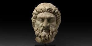 Large Roman Head of Asclepius, God of Medicine