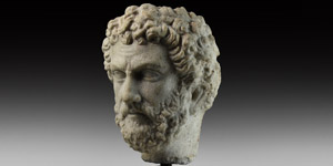 Roman Marble Head of Antoninus Pius