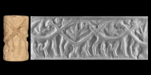 Western Asiatic Early Dynastic Cylinder Seal with Monsters