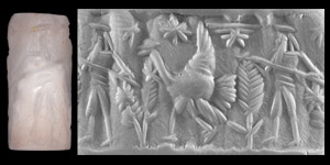 Western Asiatic Cylinder Seal with Spearman