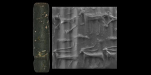 Western Asiatic Cylinder Seal with Animals