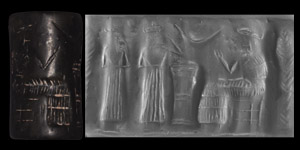 Western Asiatic Akkadian Cylinder Seal with Gods