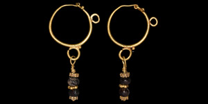 Large Parthian Gold Earring Pair