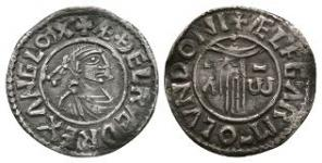 Anglo-Saxon Coins - Aethelred II - London / Aelfgar - First Hand Penny
