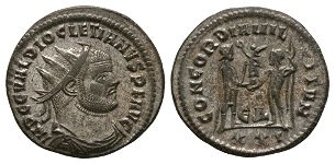Ancient Roman Imperial Coins - Diocletian - Emperor and Jupiter Antoninianus