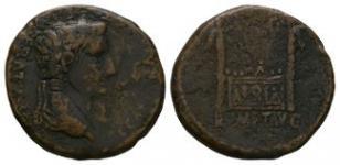 Ancient Roman Imperial Coins - Tiberius - Altar Quadrans