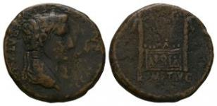 Ancient Roman Imperial Coins - Tiberius - Altar As