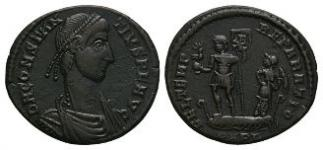 Ancient Roman Imperial Coins - Constantius II - Emperor in Galley Maiorina