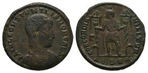 Ancient Roman Imperial Coins - Constantius Gallus - Caesar Standing Maiorina