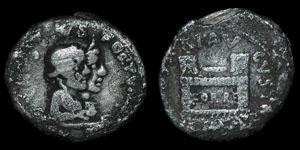 Roman Empire - Augustus - Q. Rustius - AR Denarius