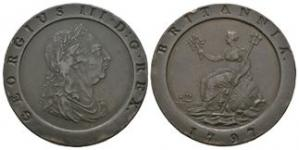 English Milled Coins - George III - 1797 - Cartwheel Twopence