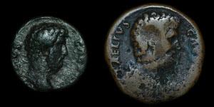 Roman Empire - Aelius - AE Sestertius and As
