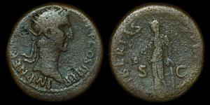 Roman Empire - Nerva - AE Dupondius
