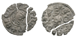 Anglo-Saxon Coins - Beornwulf - East Anglia - Werbald - Fragmentary Penny