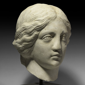 Roman Marble Head of a Nymph