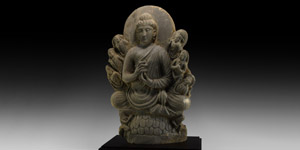 Gandharan Miracle of Sravasti Stele