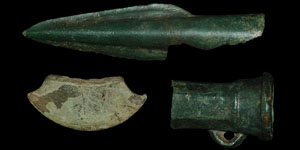 Late Bronze Age - Spear, Socketed Axe and Flat Axe Blade