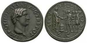 Ancient Roman Imperial Coins - Otho - Paduan Emperor and Soldiers Sestertius