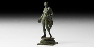 Roman Lares Household Guardian Statuette