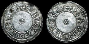 British Anglo-Saxon - Aethelstan - Circumscription Rosette Penny - Chester - Cnapa