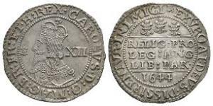 English Stuart Coins - Charles I - Bristol - 1644 BR - Declaration Shilling
