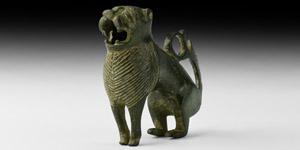 The Wenhaston Lion English Animalier Candlestick