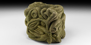 Anglo-Norman Carved Zoomorphic Corbel