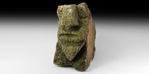 Medieval Carved Stone Head