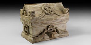 Byzantine Justinian the Great Marble Reliquary Casket
