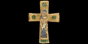 Byzantine Enamelled Gold Cross
