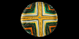 Marbled Glass Dish